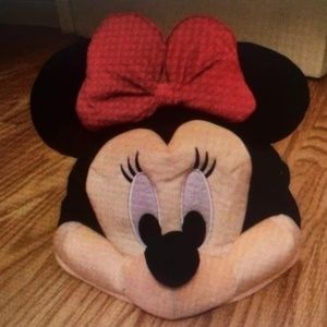 NEW! WDW MINNIE MOUSE Pink PLUSH HAT +GLASSES